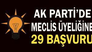AK Parti'de meclis için 29 kişi başvurdu