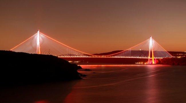 Yavuz Sultan Selim Köprüsü kadına yönelik şiddete karşı turuncu ışıkla aydınlanacak