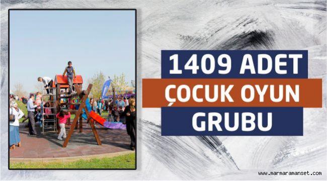 Büyükşehir 1409 Adet Çocuk Oyun Grubu Kazandırdı