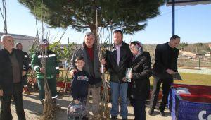 Büyükşehir'den Çiftçilere meyve fidanı desteği