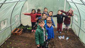 Miniklerin bitki yetiştirme heyecanı