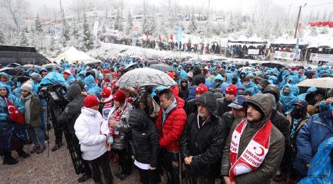 Binler Sarıkamış Şehitleri için yürüdü