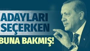 Erdoğan başkan adaylarını seçerken bunlara bakmış!