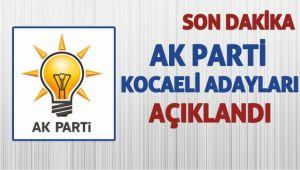 İşte Kocaeli AK Parti'nin aday listesi