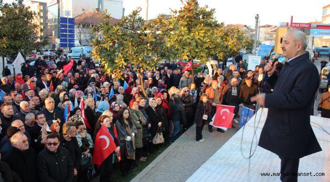 Cumhur İttifakı'ndan Gebze'de miting gibi buluşma