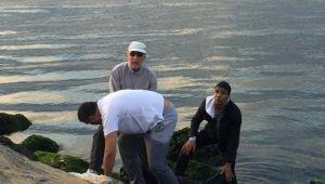Denize Düşen Kadını Vatandaşlar Kurtardı