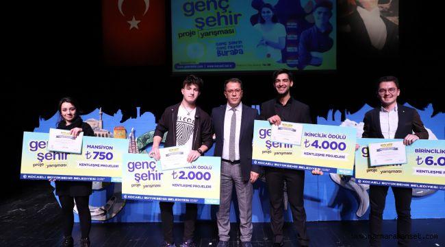 Genç Şehir Projesinde ödüller sahiplerini buldu