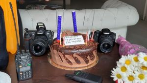 Kocaeli'de Gazetecilerden Polise Sürpriz Kutlama