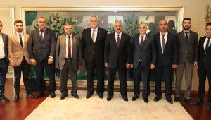 MHP'den Büyükgöz'e hayırlı olsun ziyareti