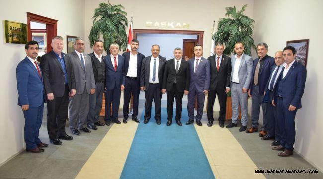 Muhtarlar'dan Başkan Şayir'e ziyaret