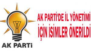 AK Parti'de il yönetimi için isimler önerildi