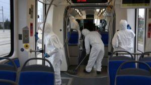 Akçaray Tramvayları Her Gün Temizleniyor