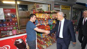 Başkan Büyükgöz'den esnafı ziyaret etti