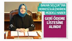 Aile Bakanı Selçuk'tan müjdeli haber