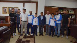 Başkan Şayir, Şampiyonları Ağırladı