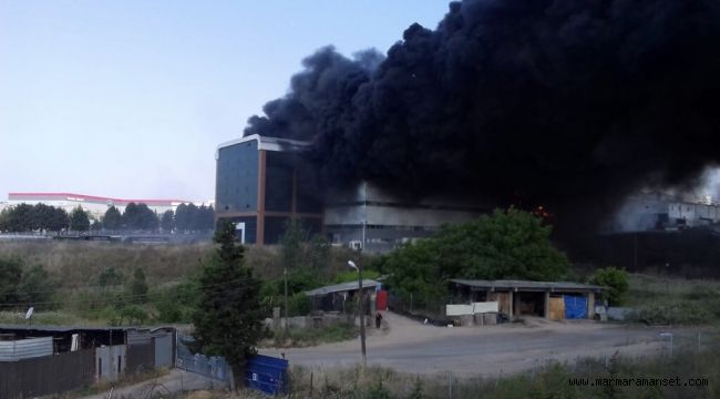 Çayırova'da Fabrika Alev Alev Yanıyor!
