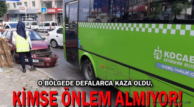 Gebze'de meydana gelen kaza korkuttu!