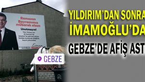 İmamoğlu'da Gebze'ye afiş astı
