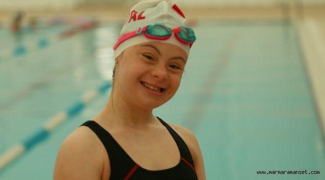 Özel sporcu Firuze'nin hedefi olimpiyatlar