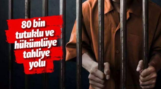 80 bin tutuklu ve hükümlüye tahliye yolu açıldı