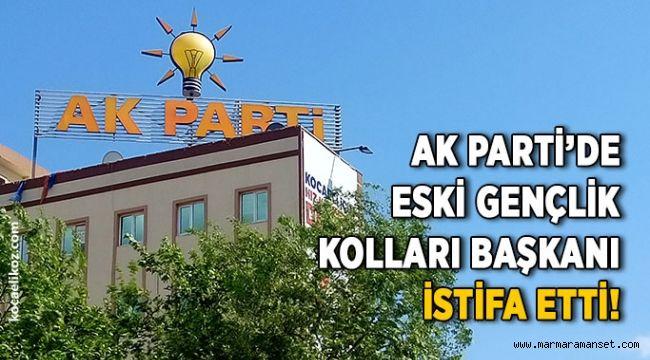 AK Parti'de eski gençlik kolları başkanı istifa etti!