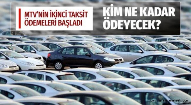 Motorlu taşıtlar vergisinin ikinci taksit ödemeleri başladı