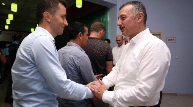 Başkan Büyükakın, Gebze'de personeliyle bayramlaştı