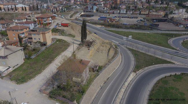 Eynerce Kavşağın İstanbul çıkışına geçici güzergah