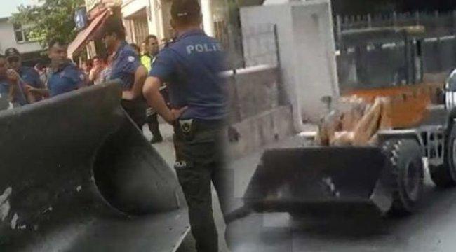 Kepçeyi ve polis memurunu kaçırdı! Sebebini duyanlar şaştı kaldı