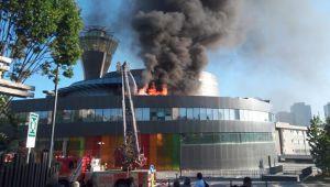 Üsküdar'daki bilim merkezinde korkutan yangın
