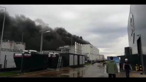 Dilovası'nda fabrika yangını; 2 ağır yaralı!