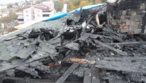 Yangın mağdurlarının çatısı onarılıyor