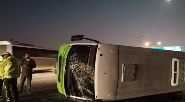 Gebze'de Halk Otobüsü devrildi!