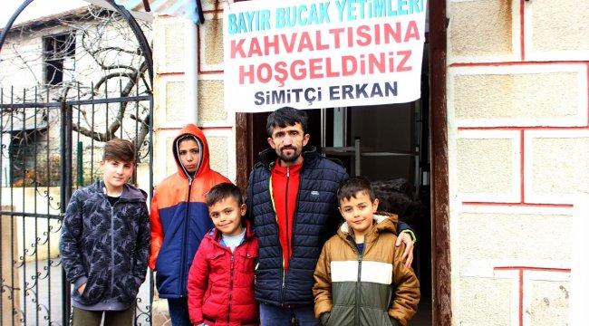 Simitçi Erkan Suriyeli yetimlere buluştu