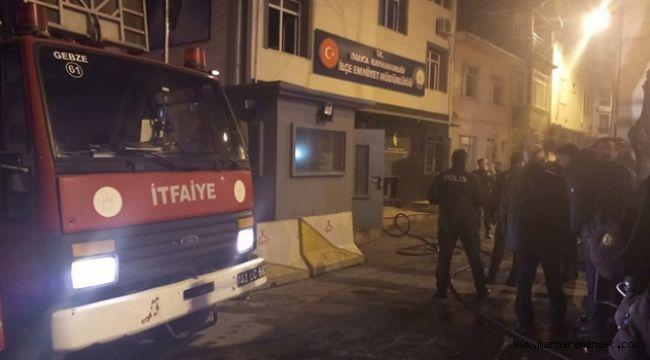 Darıca Emniyet Müdürlüğü'nde yangın çıktı