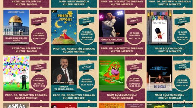 Çayırova'nın Şubat ayı kültür ve sanat ajandası