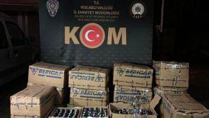 Polisin durdurduğu araçtan 765 şişe kaçak alkol çıktı