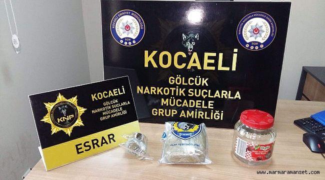 448 gram esrarla yakalanan 2 kişi tutuklandı
