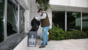 Çayırova'da 160 noktaya atık maske ve eldiven kutusu
