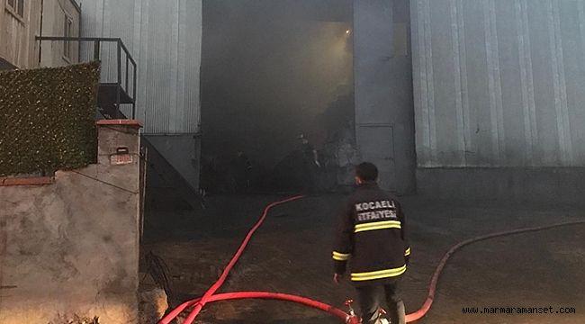 Dilovası'nda korkutan fabrika yangını!