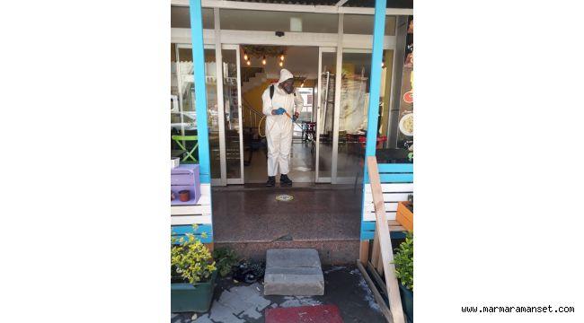 Gebze'de dezenfekte çalışmaları devam ediyor