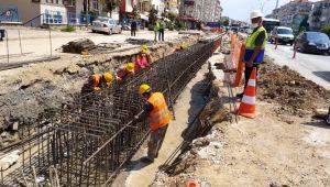 Karamürsel Köprülü Kavşağı'nda çalışmalar sürüyor