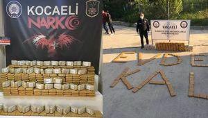 Kocaeli'de 374 kilogram eroin ele geçirildi