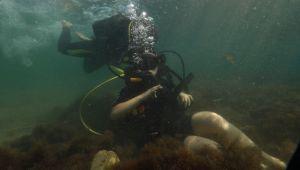 Şevval ilk su altı dalışını yaptı