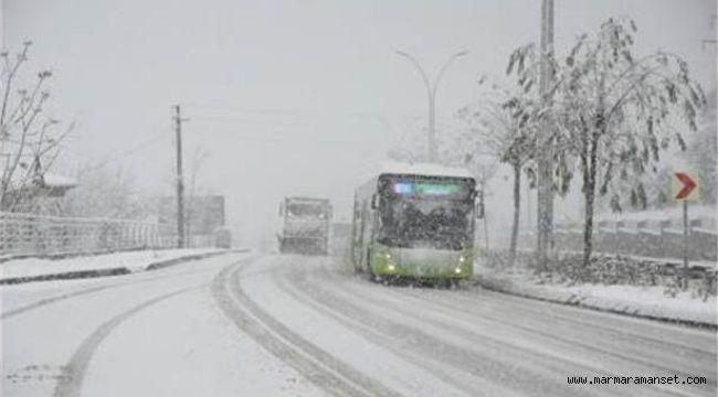 Kocaeli'de kar yağışı başladı