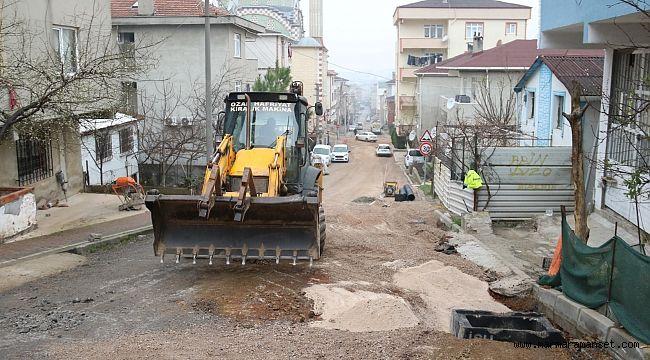 Ulus Mahallesi'ne yağmur suyu altyapı çalışması