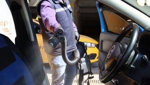 Kocaeli genelindeki taksiler dezenfekte ediliyor