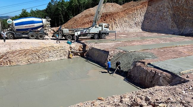 Gebze Balçık'ta 5 bin m3 depo inşaatı sürüyor