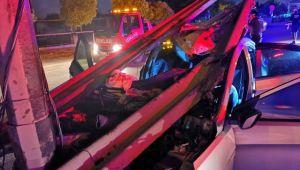 Metro inşaatına daldı: 2 yaralı