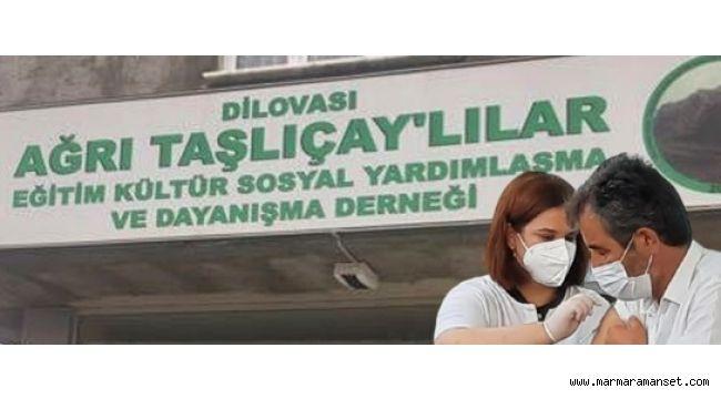 Taşlıçaylılardan aşı kampanyası